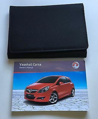 Vauxhall Corsa C Genuine Owners Manual Users Handbook Pack 2006-2011