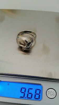 Sterling Silver 925 Scull Poison Secret Compartment Ring