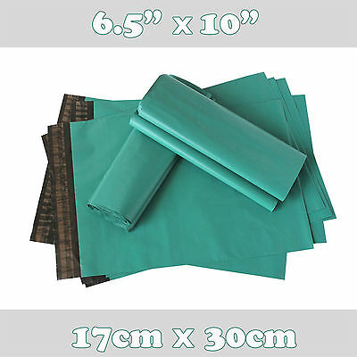 """50 Green Strong Plastic  Delivery Bags ,6.5"""" x 10"""""""