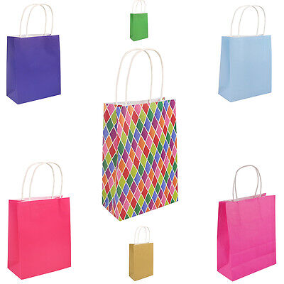 7 COLOURS PARTY BIRTHDAY GIFT BAGS XSMALL 21 x 14 cm Cheapest