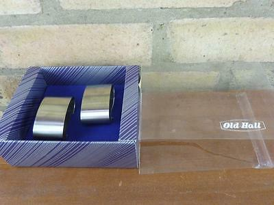 2 nice vintage Old Hall stainless steel Oval napkin rings boxed