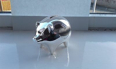 Wedgwood Vera Wang Silver Plated Childs PIGGY BANK