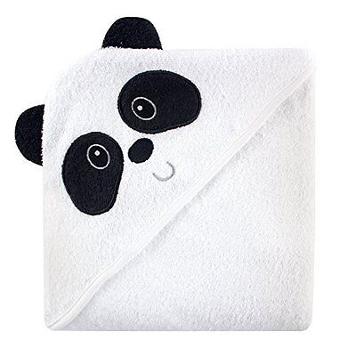 Luvable Friends Animal Face Hooded Towel, Panda