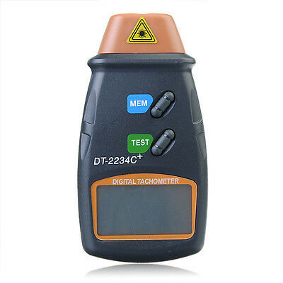 DT2234C+ Digital Laser RPM Tachometer Non Contact Measurement Tool