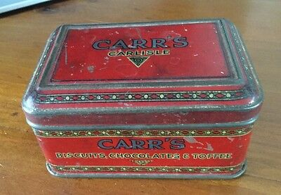"""1930's CARR'S OF CARLISLE """"SAMPLE"""" BISCUIT TIN"""