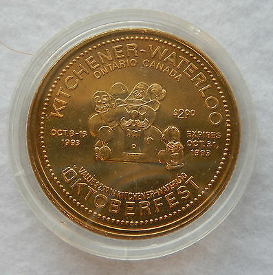 """1993 Kitchener Waterloo Oktoberfest """"Official Opening..."""" Trade $ Coin SB3598"""