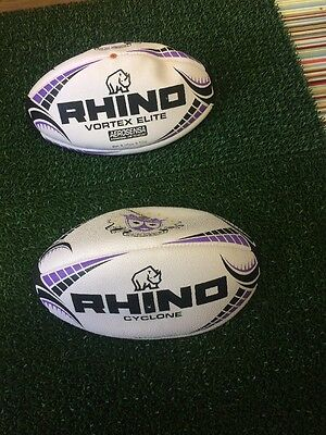 2 Rhino Rugby Balls College Match And Training Ball