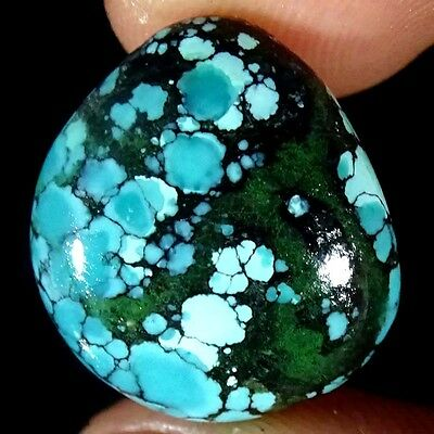 11.20Cts 100%NATURAL DESIGNER TIBET TURQUOISE FANCY CABOCHON UNTREATED GEMSTONE