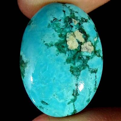 17.90Cts 100% NATURAL DESIGNER TIBET TURQUOISE OVAL CABOCHON UNTREATED GEMSTONE