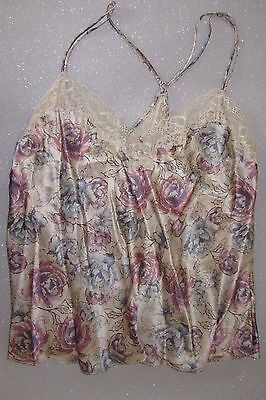 Marks & Spencer Rosie Autograph Floral Silk Camisole Top-Oyster-Size 16 & 18-New