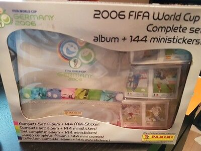 Panini 2006 Wc Complet Set Album + 144 Ministickers Neuf New