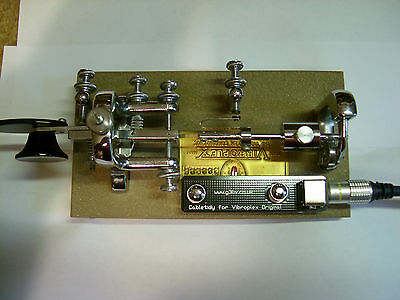 Vibroplex Original model Bug morse key. Cable tidy PCB.