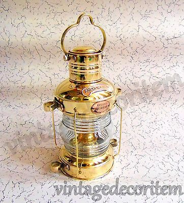 Vintage Style Nautical Brass Hanging Oil Lamp ~ Antique style working lamp