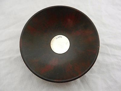 Lovely Charles Horner Solid Silver And Mottled Red And Black Bakelite Pin Dish.