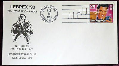 Elvis Presley Oct 29Th 1993 First Day Cover Bill Haley Tribute + Insert