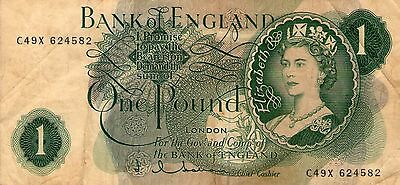 Banknotes Bank of England  One Pound
