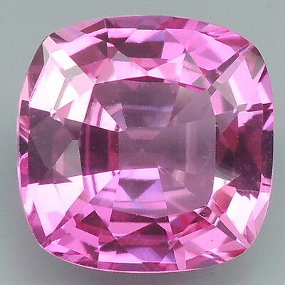Lively!!! 4.25ct. Pink Topaz Cushion