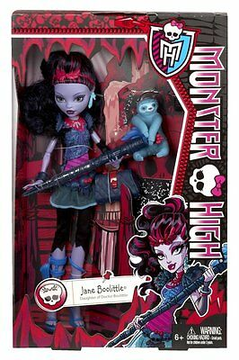 Monster High Jane Boolittle Fashion Doll Outfit Accessories Hairbrush Age 6+