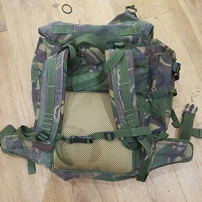 British Army Bergen 120L DPM Shortback  with modified shoulder straps and back