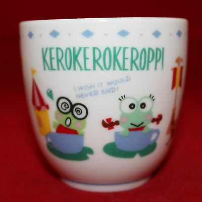 Sanrio Japan Kero Kero Keroppi Porcelain White Colorful Tea No Handle Free Cup