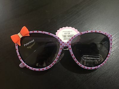 Purple Kitty bow kids Sunglasses 100 %UV Protection Ages 3+