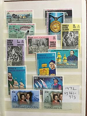 Turks And Caicos Islands Stamps 1972 sg 361-373