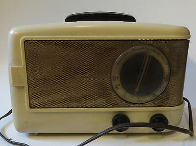Vintage Mid Century Modern 40S Emerson Portable Electric Tube Am Radio As Found