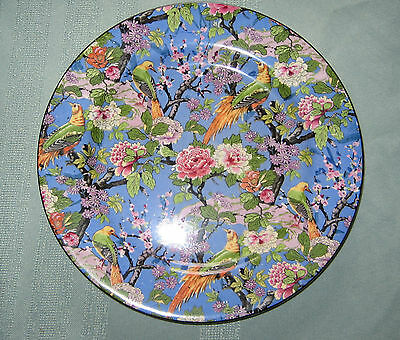 Rare Crown Ducal Ware Plate Chintz Exotic Birds