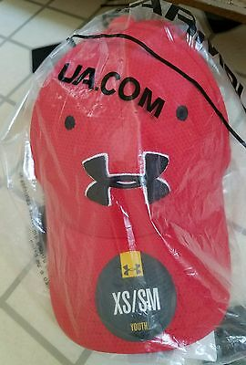 Boys Youth Under Armour Red Flex Hat Xs Small Fitted New