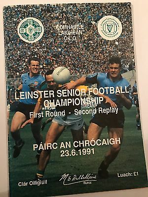 Leinster Championship 1991 Dublin V Meath 2nd Replay Match Programme