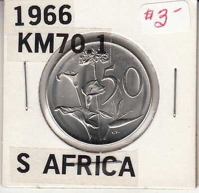 South Africa 50 Cents, 1966  KM:70.1 UNC