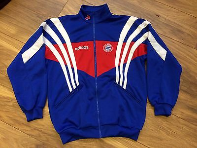 Vintage Bayern Munich Germany Adidas Retro Football Track Top