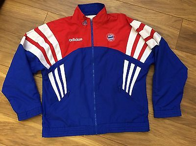 Vintage Bayern Munich Germany Adidas Retro Football Shell Track Top