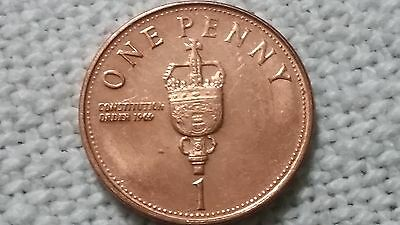 2009 Gibraltar 1p One Penny Constitution Order 1969 House of Assembly COIN HUNT