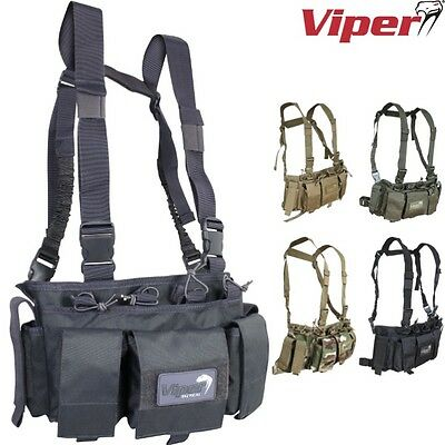 Viper Tactical Special Ops Chest Rig Pouch Vest Airsoft Army Hunting Webbing