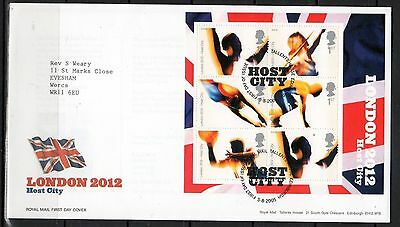GB - FDC - LONDON 2012 - HOST CITY - Issued 2005