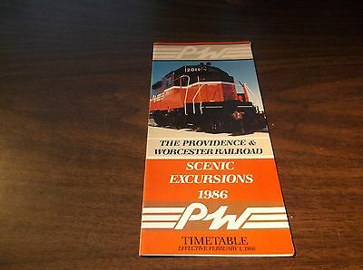 1986 Providence & Worcester Railroad Scenic Excursions Brochure