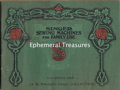 1910 Trade Catalogue for Singer Sewing Machines. Well illustrated