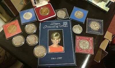 Royal Wedding Coins and Medals x 12