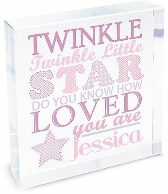 Personalised Twinkle Girls Large Crystal Token - Free Delivery