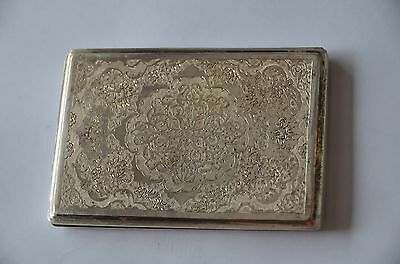 ANTIQUE EARLY 1900s ISLAMIC PERSIAN SILVER CIGARETTE CASE ISFAHAN/ESFAHAN