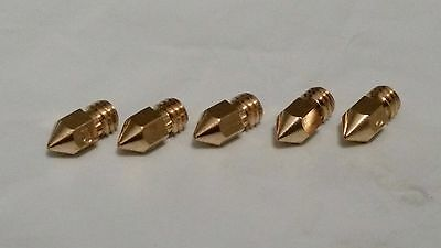 ** USA STOCK ** 5-PACK BRASS - Anet a6 and a8 - 0.4mm 3D Printer Extruder Nozzle