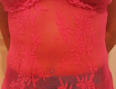 💝 💝 pink mesh lace Babydoll lingerie 💝 Music Legs 💝