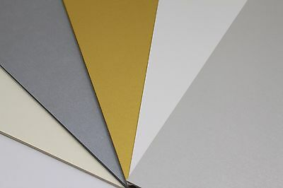 A4 Gold, Ivory, Silver, White Or Silver Pearl Smooth Pearlescent Paper Or Card.