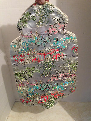 Vintage Chinese Colorful Silk Embroidered Hot Water Bottle Bag