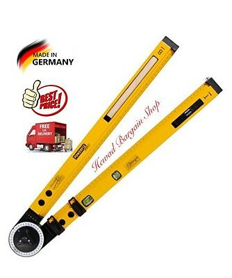Protractor Spirit Level Angle Measurements 0°-270°Angle Made By Powerfix Germany