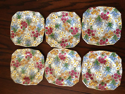 Vintage Royal Winton Marguerite Chintz Small Side Plates Set of 6