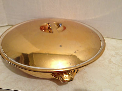 Royal Worcester Gold Luster Covered Casserole Made in England Shape 22 Size 6