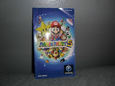 """Notice + boite """"Mario party 5"""" Game Cube only (No cd)"""