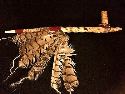 Peace Pipe, Sacred Pipe, Finest in Tribal Display!